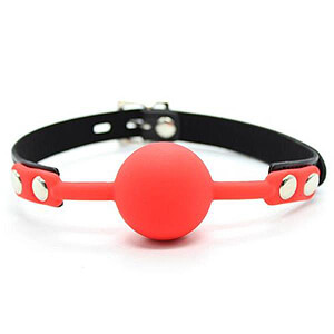 Fetish Dreams Silicone Ball Gag Red